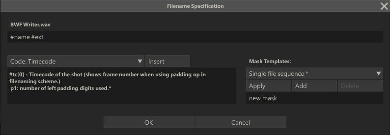File Mask Dialog