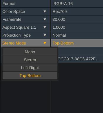 Stereo Mode Meta Data